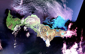 St. Lawrence Island - False color NASA Landsat image of St. Lawrence Island