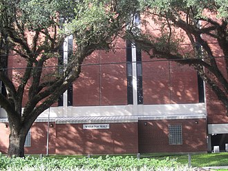 University of Louisiana at Lafayette - Wharton Hall houses Biology and Nursing Departments, as well as television studio labs for the Communications Department at UL Lafayette.