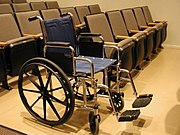 Wheelchair seating in a theater.