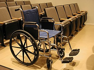 Wheelchair seating in a theater (i.e. giving a...