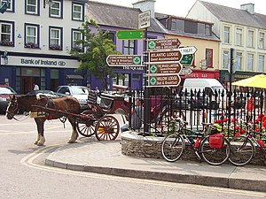 Kenmare - Horse and cart in Kenmare.