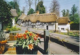 Wherwell village in the United Kingdom