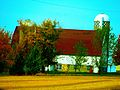 White Barn with Brown Roof - panoramio.jpg