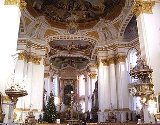 Januarius Zick - Abbey church Wiblingen, interior