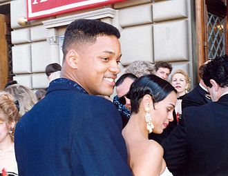 Grammy Award for Best Rap Performance - 1989 award winner and 1990 nominee Will Smith of the duo DJ Jazzy Jeff & The Fresh Prince at the Emmy Awards in 1993