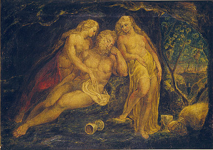 Blake's Lot and His Daughters, Huntington Library, c. 1800 William Blake Lot and His Daughters Butlin 381.jpg