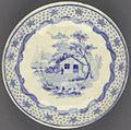 William Henry Harrison Log Cabin Plate, ca. 1840 (4359520921).jpg