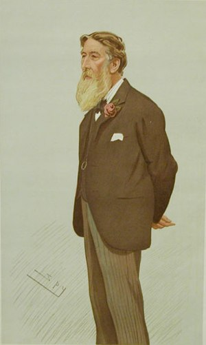 "William Luson Thomas - ""The Graphics"" Thomas as caricatured by Spy (Leslie Ward) in Vanity Fair, December 1894"