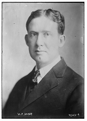 William P. Hobby - Image: William Pettus Hobby in 1917