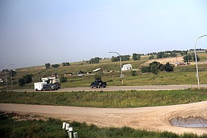 Williston, North Dakota - US 2 and US 85 at Williston