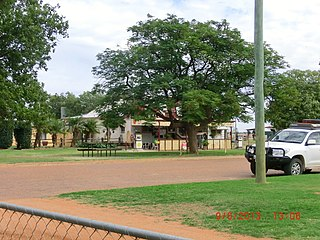 Windorah Town in Queensland, Australia