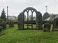 Window tracery in churchyard of St Mary Middleton in Teesdale.jpg