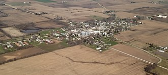 Wingate, Indiana - Aerial view looking to the northwest