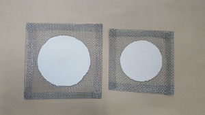 Wire gauze - The left wire gauze is 6 inches by 6 inches. The right one is 5 inches by 5 inches.