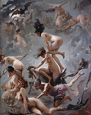 Immagine Witches going to their Sabbath, by Luis Ricardo Falero.jpg.