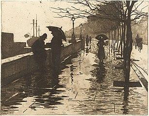 Regen, Thames Embankment, London