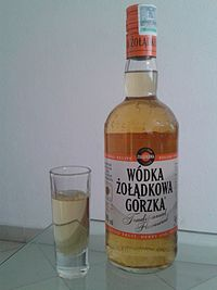 Wodka Zoladkowa Gorzka Traditional in the new bottle introduced in 2009.