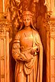 Wooden carving of Saint Helen, Sanctuary, Sacred Heart Cathedral, Newark.jpg