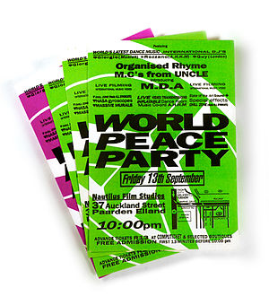 World Peace Party - World Peace Party flyer 1991