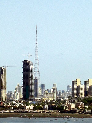 Mumbai Television Tower - Mumbai Television Tower amidst Worli skyline.
