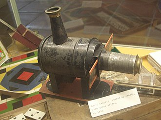 Christian film industry - Magic lantern at the Wymondham Museum.