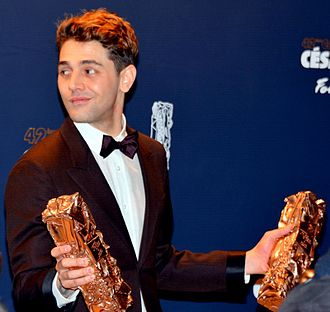 Xavier Dolan - Dolan with his César Awards at the 42nd ceremony in 2017