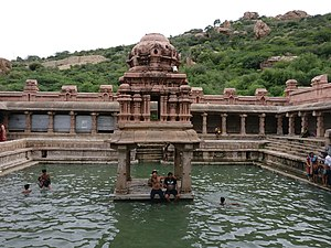 Yaganti temple - The Pushkarini is suitable for holy baths.