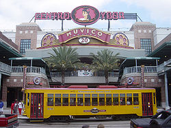 Centro Ybor complex with a TECO Line car passing in front