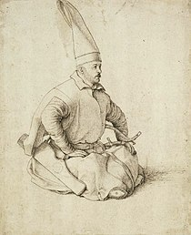 A Janissary drawing by Gentile Bellini (15th century).