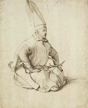 Ottoman embassy to France (1534) - The 1534 Ottoman embassy was composed of Janissaries. Drawing by Gentile Bellini.
