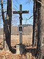 Záhvozdí - kříž se vzpomínkou na Mařenku Pospíšilovou.JPG