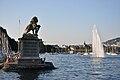 Zürich - Enge - Hafen - Löwendenkmal 2010-08-21 18-57-20.JPG