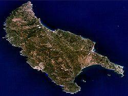 Η Ζάκυνθος σε φωτογραφία δορυφόρου από τη NASA World Wind