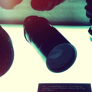 Carl Zeiss Planar 50mm f/0.7 - Lens on display at LACMA