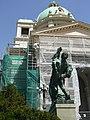 Zgrada Narodne skupštine u Beogradu - skulpture na ulasku u objekat 2.JPG