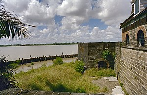 Recapture of Fort Zeelandia (1667) - Image: Zicht op buitenmuur aan de rivierzijde met zicht op bastion Paramaribo 20377866 RCE