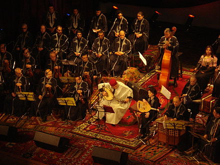 Rachidia orchestra playing traditional music in Tunis Theater Zied Gharsa et la Rachidia.jpg