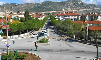 Muğla - Street in the new quarters of Muğla.