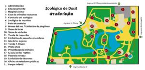 Dusit Zoo - Dusit zoo map.