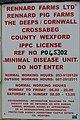 """Minimal disease unit - do not enter"" sign at pig farm - geograph.org.uk - 1269148.jpg"