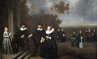 Burgomaster - The Burgomaster's Family, possibly painted by Gerard Donck c. 1640