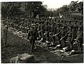 (1-4th) Gurkhas at kit inspection showing kukris (Le Sart, France). Photographer- H. D. Girdwood. (13875871735).jpg