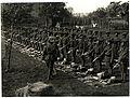 (1-4th) Gurkhas at kit inspection showing kukris (Le Sart, France). Photographer- H. D. Girdwood. (13875871735).jpg
