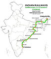 (Dibrugarh - Chennai) Express Route map.jpg