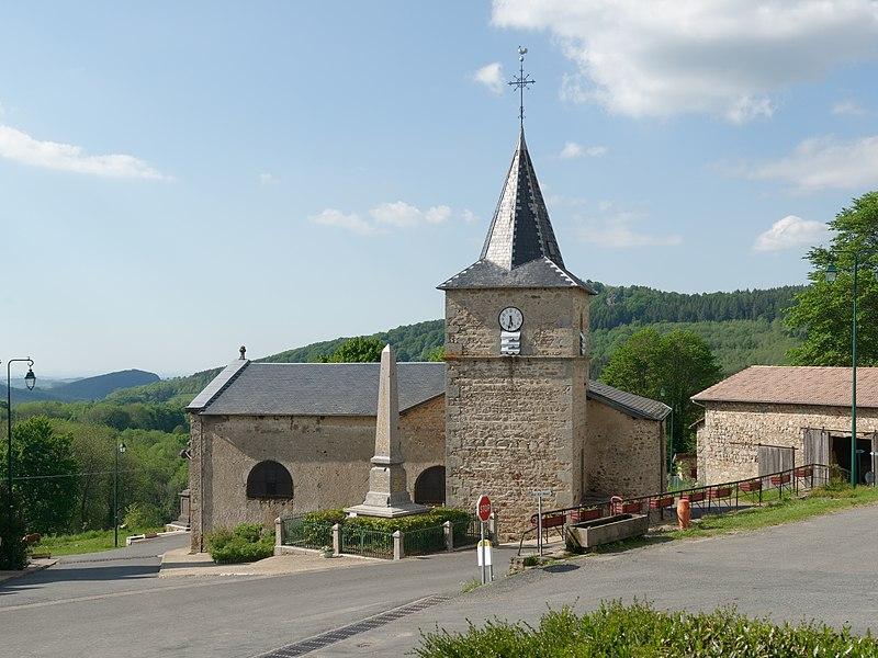 Église Saint-Vincent de Lavoine, dans l'Allier.
