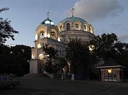 Евпатория. Свято-Николаевский собор вечером..JPG