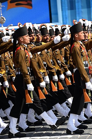 The Grenadiers - Grenadiers participating in the 2015 Moscow Victory Day Parade, marking the 70th anniversary of the victory in Europe.