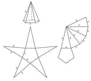 Пирамида геометрия Википедия Развёртка пирамиды править править код