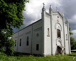Church of the Nativity of St. John the Baptist in Sasiv built in 1864 in the style of Gothic Revival architecture
