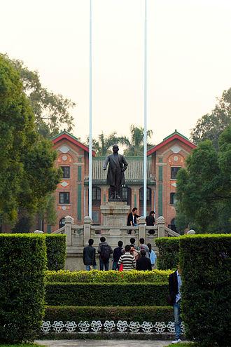 Sun Yat-sen University - Sun Yat-sen Statue in front of Swasey Hall